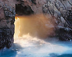Pfeiffer Arch at sunset, Pfeiffer Beach, Pfeiffer Big Sur State Park, California