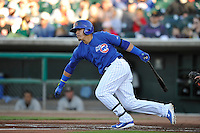 Manny Remirez #44 of the Iowa Cubs swings against the Omaha Storm Chasers at Principal Park on July 2, 2014 in Des Moines, Iowa. The Cubs  beat Storm Chasers 4-3.   (Dennis Hubbard/Four Seam Images)