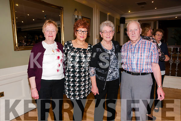 Active Retired Tea Party: Attending the Listowl Active retired party at the Listowel Arms Hotel on Sunday afternoon last were Peggy Brick, Rita Hannon, Mamie Kearney & Tom Dore.