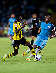 Borussia Dortmund striker Ousmane Dembele (l)fights for the ball with Manchester City midfielder Fernandinho Roza (r) during the 2016 International Champions Cup China match at the Shenzhen Stadium on 28 July 2016 in Shenzhen, China. Photo by Marcio Machado / Power Sport Images