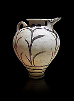Minoan clay polychrome pithoid jar with reed decoration, Akrotiri, Thira (Santorini) National Archaeological Museum Athens.
