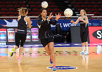 04.08.2015 Silver Ferns Grace Rasmussen in action during Silver Ferns training ahead of the 2015 Netball World Champs at All Phones Arena in Sydney, Australia. Mandatory Photo Credit ©Michael Bradley.