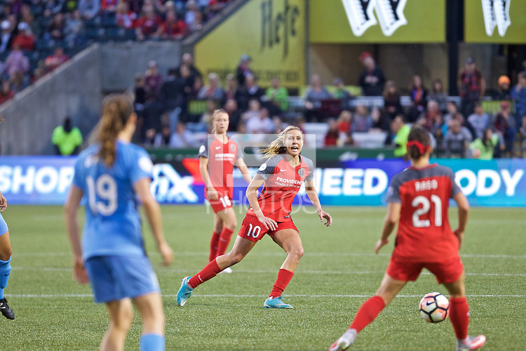 Portland, OR - Saturday June 17, 2017: Allie Long during a regular season National Women's Soccer League (NWSL) match between the Portland Thorns FC and Sky Blue FC at Providence Park.