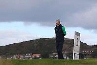 Tiernan McLarnon from Ireland on the 5th tee during Round 3 Singles of the Men's Home Internationals 2018 at Conwy Golf Club, Conwy, Wales on Friday 14th September 2018.<br /> Picture: Thos Caffrey / Golffile<br /> <br /> All photo usage must carry mandatory copyright credit (&copy; Golffile | Thos Caffrey)