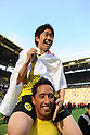 Shinji Kagawa & Lucas Barrios (Dortmund), MAY 14th, 2011 - Football : Shinji Kagawa of Dortmund celebrates after the Bundesliga match between Borussia Dortmund 3-1 Eintracht Frankfurt at the Signal Iduna Park in Dortmund, Germany. (Photo by FAR EAST PRESS/AFLO)...