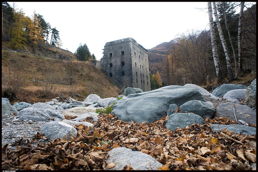 La Ridotta Carlo Alberto, parte bassa del Forte di Fenestrelle. The Fortress of Fenestrelle.
