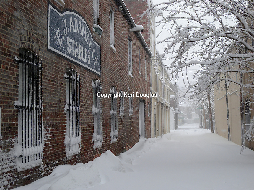 Blagden Alley - Naylor Court Historic District in the snow, Washington, DC