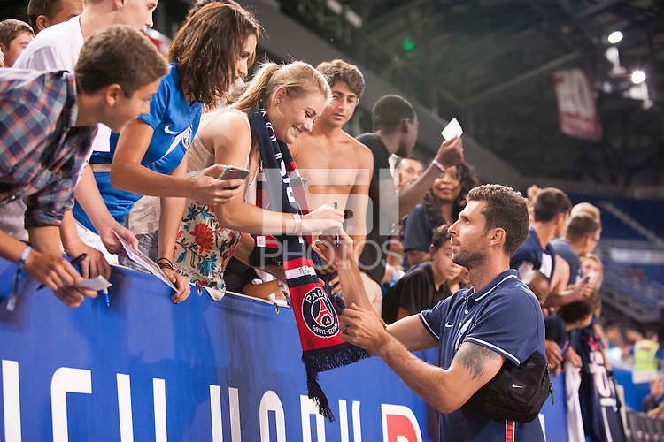 HARRISON, NJ - Tuesday July 21, 2015: French powerhouse Paris Saint-Germain (PSG) defeats Italian Serie A squad Fiorentina 4-2 as part of the Guinness International Champions Cup at Red Bull Arena.