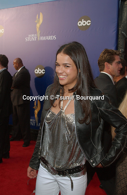 Michelle Rodriguez arrives for the WORLD STUNT AWARDS 2002, Sunday, May 19, at Santa Monica Airport, Barker Hanger, Los Angeles, CA.            -            RodriguezMichelle05.jpg