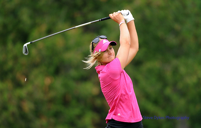 WATERLOO, ON - JUNE 8: Anna Nordqvist, of Sweden, hits her drive on the third hole during the final round of the Manulife Financial LPGA Classic at the Grey Silo Golf Course on June 8, 2014 in Waterloo, Ontario, Canada. (Photo by Steve Dykes/Getty Images) *** Local Caption *** Anna Nordqvist