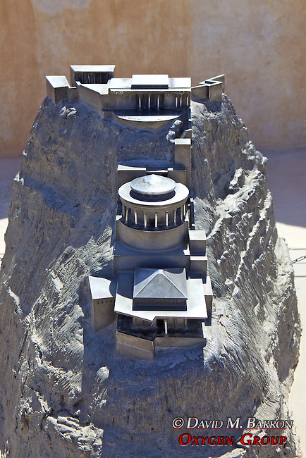 Model Of Northern Palace At Masada