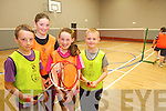 Having fun at the multi-sports camp in Moyvane last week from l-r were: Mícheál Fogarty, Kate Reynolds, Ciara Hudson and Aidan Swan.