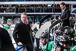 Stockholm 2014-03-21 Ishockey Kvalserien AIK - R&ouml;gle BK :  <br /> R&ouml;gles tr&auml;nare Magnus Bogren i b&aring;set bland R&ouml;gles spelare<br /> (Foto: Kenta J&ouml;nsson) Nyckelord:  portr&auml;tt portrait tr&auml;nare manager coach