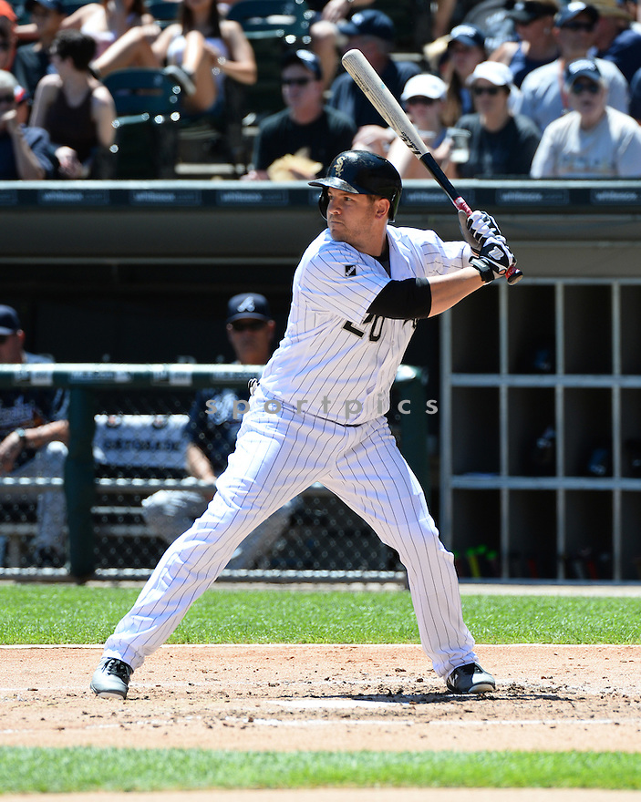 Chicago White Sox JB Shuck (20) during a game against the Atlanta Braves on July 9, 2016 at US Cellular Field in Chicago, IL. The White Sox beat the Braves 5-4.