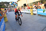 Vincenzo Nibali (ITA) Bahrain-Merida during Stage 1 of the La Vuelta 2018, an individual time trial of 8km running around Malaga city centre, Spain. 25th August 2018.<br /> Picture: Ann Clarke | Cyclefile<br /> <br /> <br /> All photos usage must carry mandatory copyright credit (© Cyclefile | Ann Clarke)
