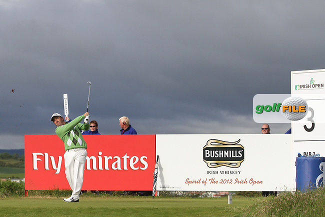 Damien McGrane (IRL) on the 3rd on Day 3 of the 2012 Irish Open at Royal Portrush Golf Club, Portrush, Co.Antrim, 30/6/12...(Photo Jenny Matthews/www.golffile.ie)