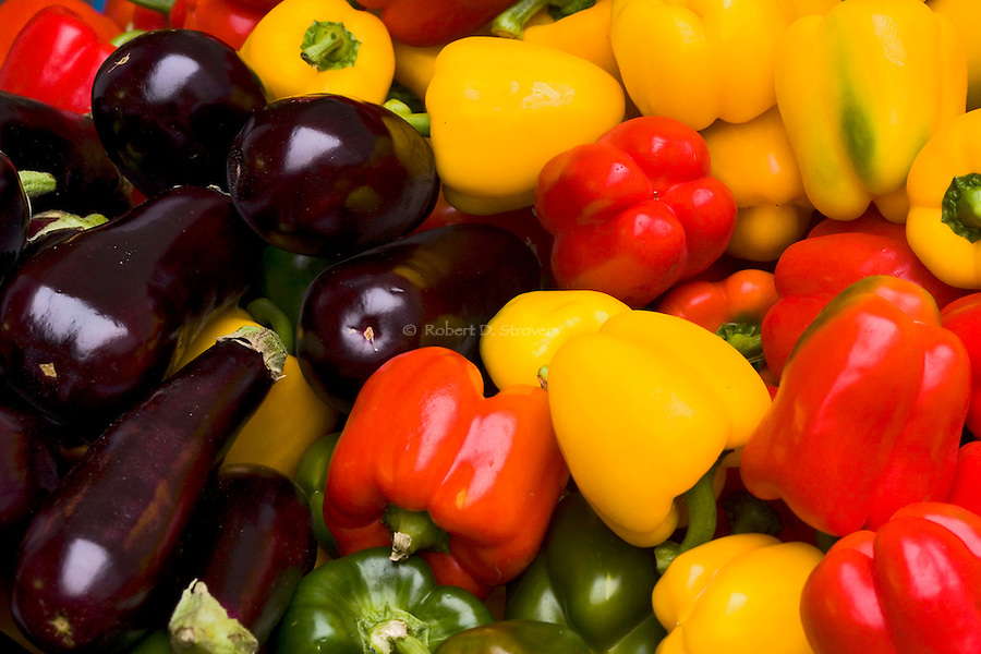 Fresh Food - Eggplant and Bell Peppers