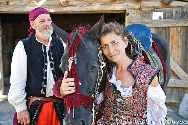 The Third Annual Santa Fe Renaissance Fair was held at Rancho de Las Golondrinas near Santa Fe in September 2010 and was a colorful and well attended event. Deville Dalton brings her rescued racehorse Diamond to the Faire.