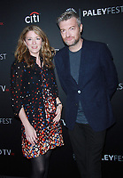 NEW YORK, NY - OCTOBER 6: Annabel Jones, Charlie Brooker at Paleyfest NY 2017 Presents Black Mirror at The Paley Center for Media in New York October 06,  2017.<br /> CAP/MPI/RW<br /> &copy;RW/MPI/Capital Pictures