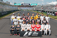 March 20, 2016: The drivers' season photograph at the 2016 Australian Formula One Grand Prix at Albert Park, Melbourne, Australia. Photo Sydney Low