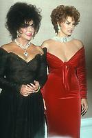 Elizabeth Taylor Raquel Welch<br /> 1980s<br /> Photo By Michael Ferguson/CelebrityArchaeology.com