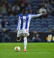 27th February 2020; Dragao Stadium, Porto, Portugal; UEFA Europa League  FC Porto versus Bayer Leverkusen; Chancel Mbemba of FC Porto gets his shot towards the goal