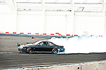 Drift competitor practising before for qualifying