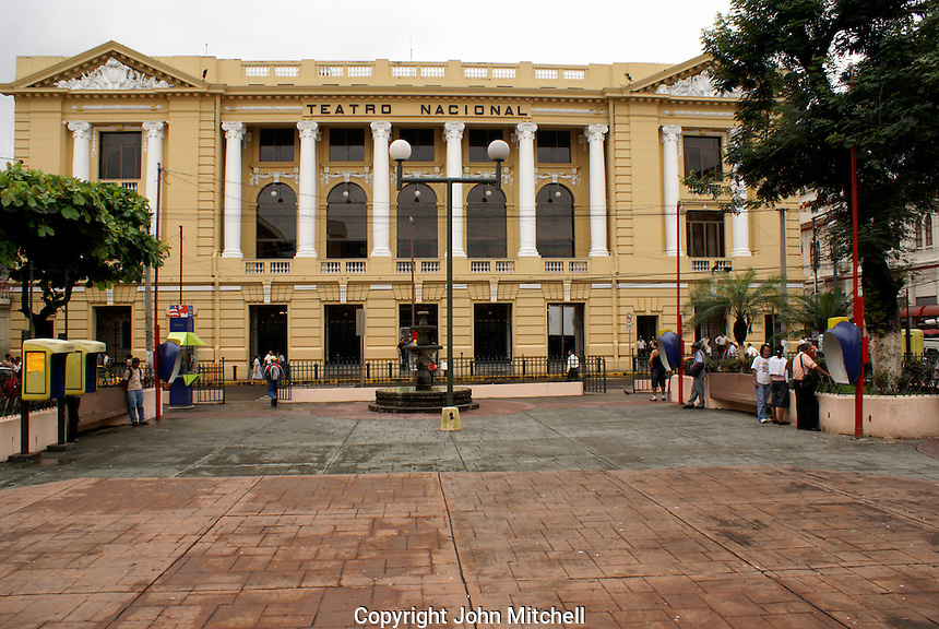 The Teatro Nacional or National Theatre in downtown San Salvador, El Salvador
