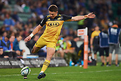 June 3rd 2017, NIB Stadium, Perth, Australia; Super Rugby; Force v Hurricanes;  Beauden Barrett of the Hurricanes kicks for conversion