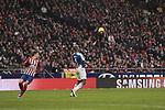 Atletico de Madrid's Antoine Griezmann and RCD Espanyol's Edinaldo Gomes 'Naldo' during La Liga match between Atletico de Madrid and RCD Espanyol at Wanda Metropolitano Stadium in Madrid, Spain. December 22, 2018. (ALTERPHOTOS/A. Perez Meca)