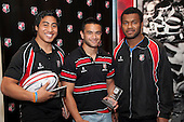 Joint winners of the Under Player of the Year John Luteru and Timoci Navabale with Steeler Sherwin Stowers. Counties Manukau Representative Teams prize givung held at Bayer Growers Stadium on Thursday October 28th 2010.