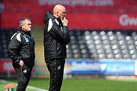 Head Coache Cameron Toshack of Swansea City u23's during the Premier League Cup: Semi Final match between Swansea City and Everton at the Liberty Stadium in Swansea, Wales, UK.  Saturday 04 May 2019