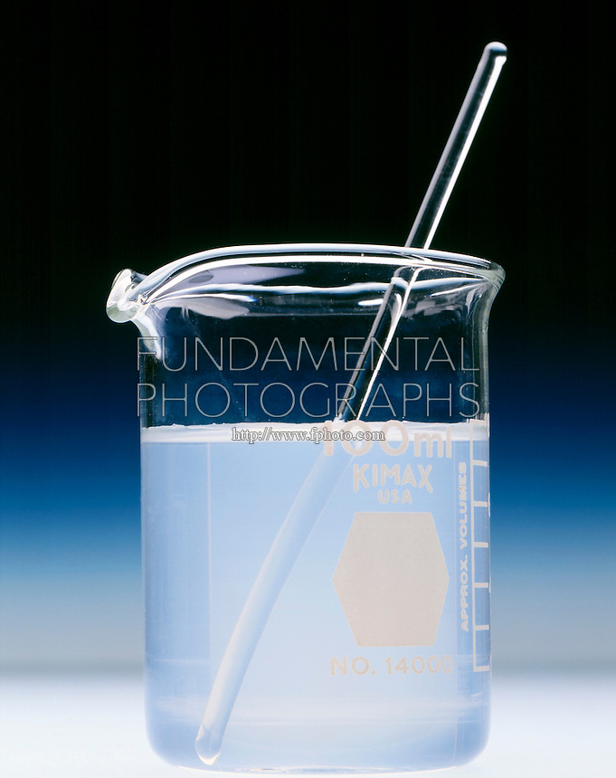 SILVER NITRATE SOLUTION IN WATER<br /> 1 of 2<br /> Tap water - A white precipitate forms. <br /> Most likely this is silver chloride due to the presence of chlorine in the treated tap water which demonstrates Le Chatelier's common ion effect..