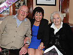 Joanne kelly celebrating her 40th birthday in the Corner Bar Dunleer with Father Larry O'Brien and Mother-inlaw Kathleen Kelly. Photo: Colin Bell/pressphotos.ie
