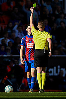 4th January 2020; Mestalla, Valencia, Spain; La Liga Football,Valencia versus Eibar; Referee Hernandez Hernandez shows the second yellow card to Paulo Oliveira of Eibar - Editorial Use