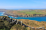 Headland on South Harbour, Cape Clear Island, County Cork, Ireland, Irish Republic