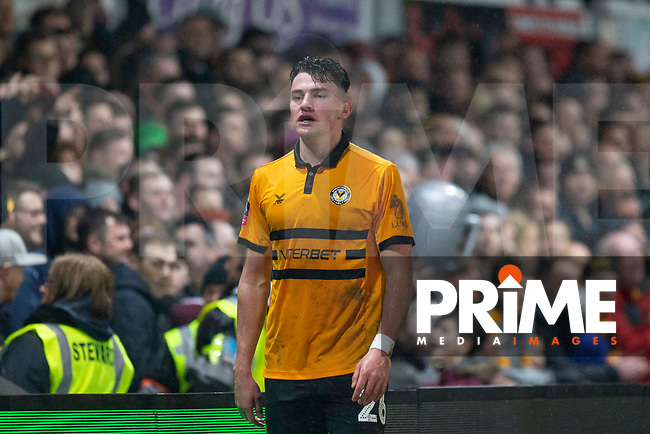 Regan Poole of Newport County during the FA Cup 4th round replay match between Newport County and Middlesbrough at Rodney Parade, Newport, Wales on 5 February 2019. Photo by Mark  Hawkins / PRiME Media Images.