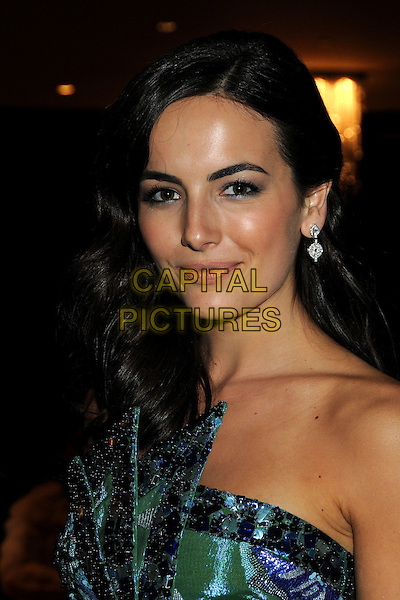CAMILLA BELLE.Celebrities Exit the 67th Golden Globe Awards at the Beverly Hilton Hotel, Beverly Hills, California, USA..January 17th, 2009.globes departures headshot portrait strapless purple green sequins sequined eyeliner make-up.CAP/ADM/BP.©Byron Purvis/Admedia/Capital Pictures
