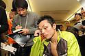 Hiroyuki Hisataka (JPN), DECEMBER 23, 2010 - Boxing :Hiroyuki Hisataka of Japan is interviewed by the press after the WBA super flyweight title bout at Osaka Prefectural Gymnasium in Osaka, Osaka, Japan. (Photo by Mikio Nakai/AFLO).