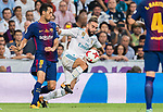 Daniel Carvajal Ramos (r) of Real Madrid competes for the ball with Sergio Busquets Burgos of FC Barcelona  during their Supercopa de Espana Final 2nd Leg match between Real Madrid and FC Barcelona at the Estadio Santiago Bernabeu on 16 August 2017 in Madrid, Spain. Photo by Diego Gonzalez Souto / Power Sport Images