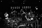 Will Swenson, Rebecca Naomi Jones, John Ellison Conlee & Karen Olivo  during the Opening Night Performance Curtain Call for the Manhattan Theatre Club's 'Murder Ballad' at MTC in New York City on 11/15/2012