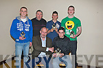 SPECIAL: Sepcial awards for 4 Causeway under 161/2 for their acheivement in the AQll Ireland under 16 1/2 Vocational Schools A Hurling in 2010, who were presented with the awards by John Joe Delaney. Front l-r: JOhn Joe Delaney and Paul McGrath. Back l-r: Tommy Barrett, Monty Leahy(Club Chairman), Darren Leahy and Muirish Deleaney...