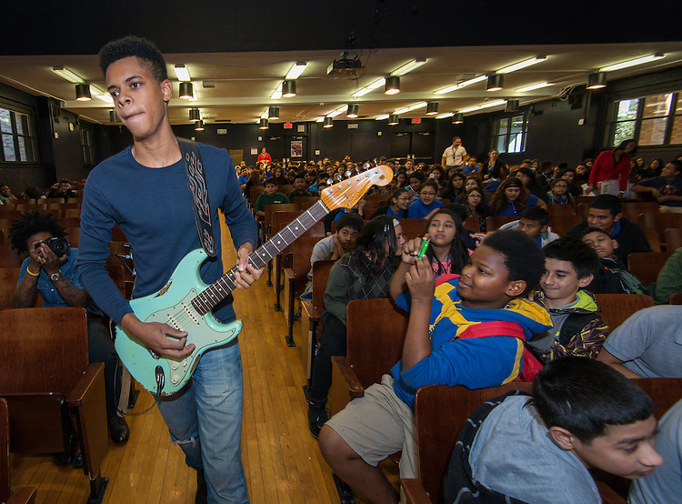 House of Blues Music Forward Foundation Action for the Arts presentation at Deady Middle School, October 14, 2015.
