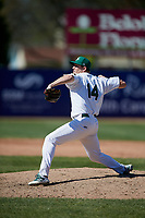 Beloit Snappers relief pitcher Matt Milburn (14) delivers a pitch during a game against the Bowling Green Hot Rods on May 7, 2017 at Pohlman Field in Beloit, Wisconsin.  Bowling Green defeated Beloit 6-2.  (Mike Janes/Four Seam Images)
