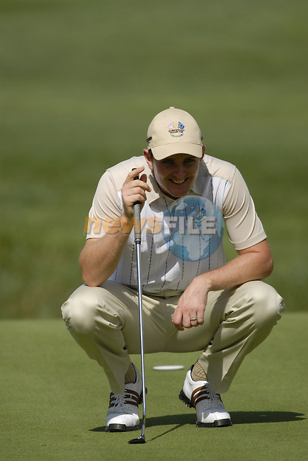European Team member Justin Rose on the 13th green during Practice Day1 of the 37th Ryder Cup at Valhalla Golf Club, Louisville, Kentucky, USA, 17th September 2008 (Photo by Eoin Clarke/GOLFFILE)