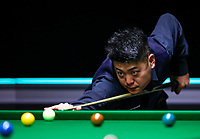 26th November 2019; York, England;  Liang Wenbo of China competes during the UK Snooker Championship 2019 first round match with Dominic Dale of Wales in York on Nov. 26, 2019.