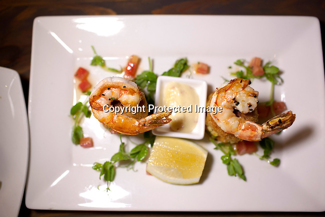 CAPE TOWN, SOUTH AFRICA - MARCH 22: A prawn dish at bizerca bistro on March 22, 2012 in Cape Town, South Africa (Photo by Per-Anders Pettersson)