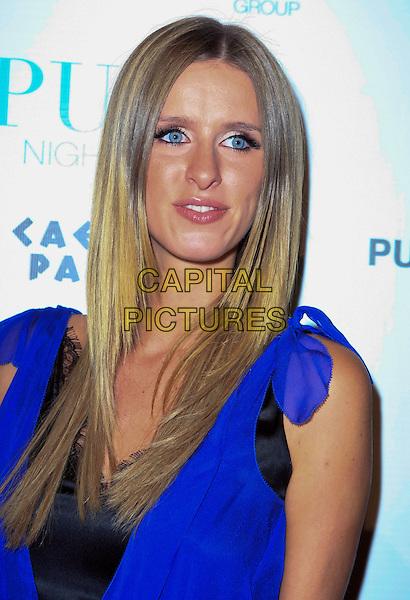 NICKY HILTON.Nicky Hilton Celebrates her Birthday at Pure Nightlcub inside the Caesar's Palace Resort Hotel and Casino, Las Vegas, Nevada, USA..October 4th, 2008.headshot portrait blue purple.CAP/ADM/MJT.© MJT/AdMedia/Capital Pictures.