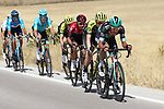Pawel Poljanski (POL) Bora-Hansgrohe gets caught behind in the 2nd group during Stage 17 of La Vuelta 2019  running 219.6km from Aranda de Duero to Guadalajara, Spain. 11th September 2019.<br /> Picture: Luis Angel Gomez/BettiniPhoto | Cyclefile<br /> <br /> All photos usage must carry mandatory copyright credit (© Cyclefile | Luis Angel Gomez/BettiniPhoto)