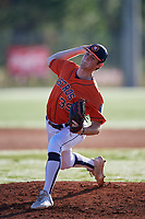Kevin Heinrich during the WWBA World Championship at the Roger Dean Complex on October 20, 2018 in Jupiter, Florida.  Kevin Heinrich is a right handed pitcher from Coral Springs, Florida who attends Marjory Stoneman Douglas High School and is committed to Arkansas.  (Mike Janes/Four Seam Images)